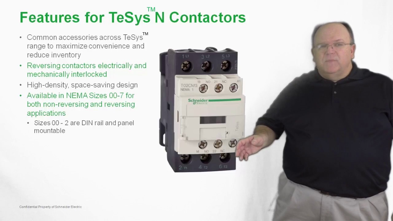 Understanding A Size 00 Contactor Wiring Tesys N Contators And Starters Youtube