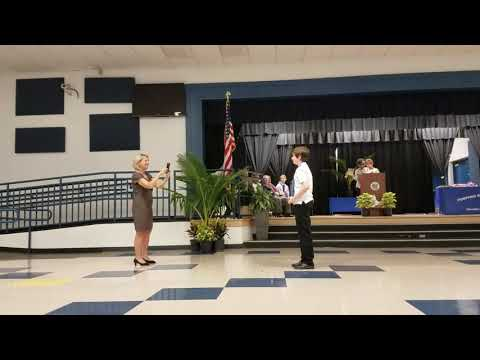 Matthew assistant principal award 6th grade pompano beach middle school