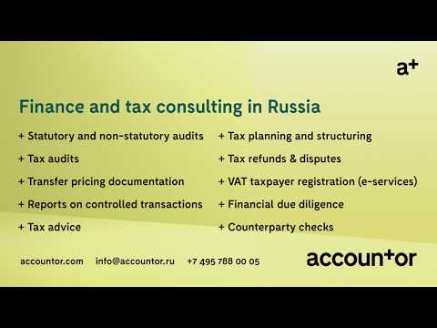 Finance and tax consulting services in Russia