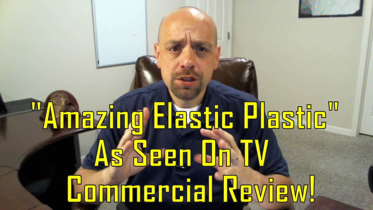 amazing elastic plastic as seen on tv commercial review youtube. Black Bedroom Furniture Sets. Home Design Ideas