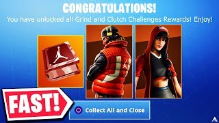 FASTEST WAY TO UNLOCK ALL GRIND and CLUTCH CHALLENGES on Fortnite...