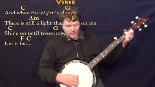 Let it Be (BEATLES) Banjo Cover Lesson with Chords/Lyrics