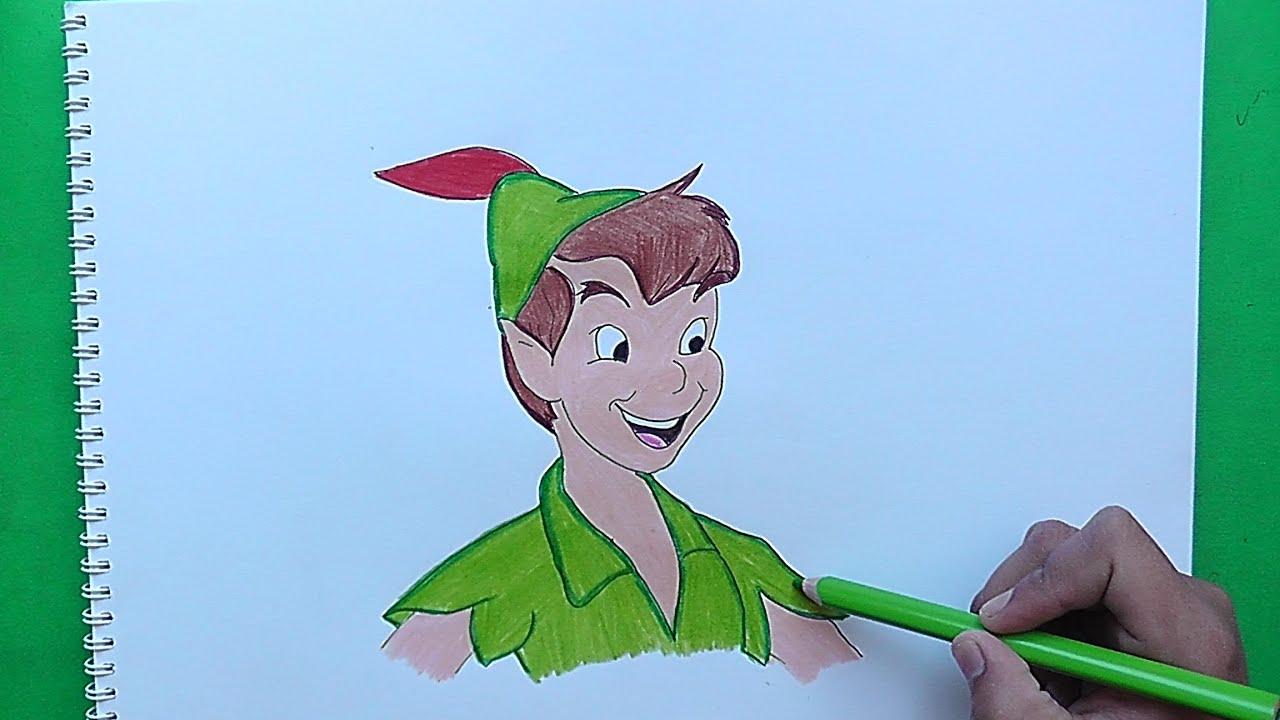 Dibujos Animados De Disney Para Colorear Peter Pan Peter: Dibujando Y Coloreando Peter Pan