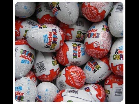 Открываем шоколадные яйца Киндер Сюрприз KINDER SURPRISE Холодное сердце смотреть