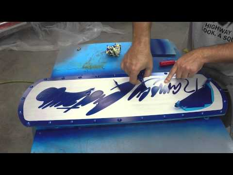 Ramsey Custom Sign - Painted! - Squeege Clear Epoxy Over Bare Aluminum