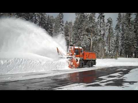 Caltrans Kodiak Blower on Echo Summit