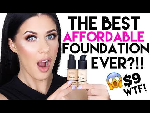 THE MOST AMAZING $9 FOUNDATION I HAVE EVER TRIED?!?! DEMO, REVIEW + 12 HR WEAR TEST!!