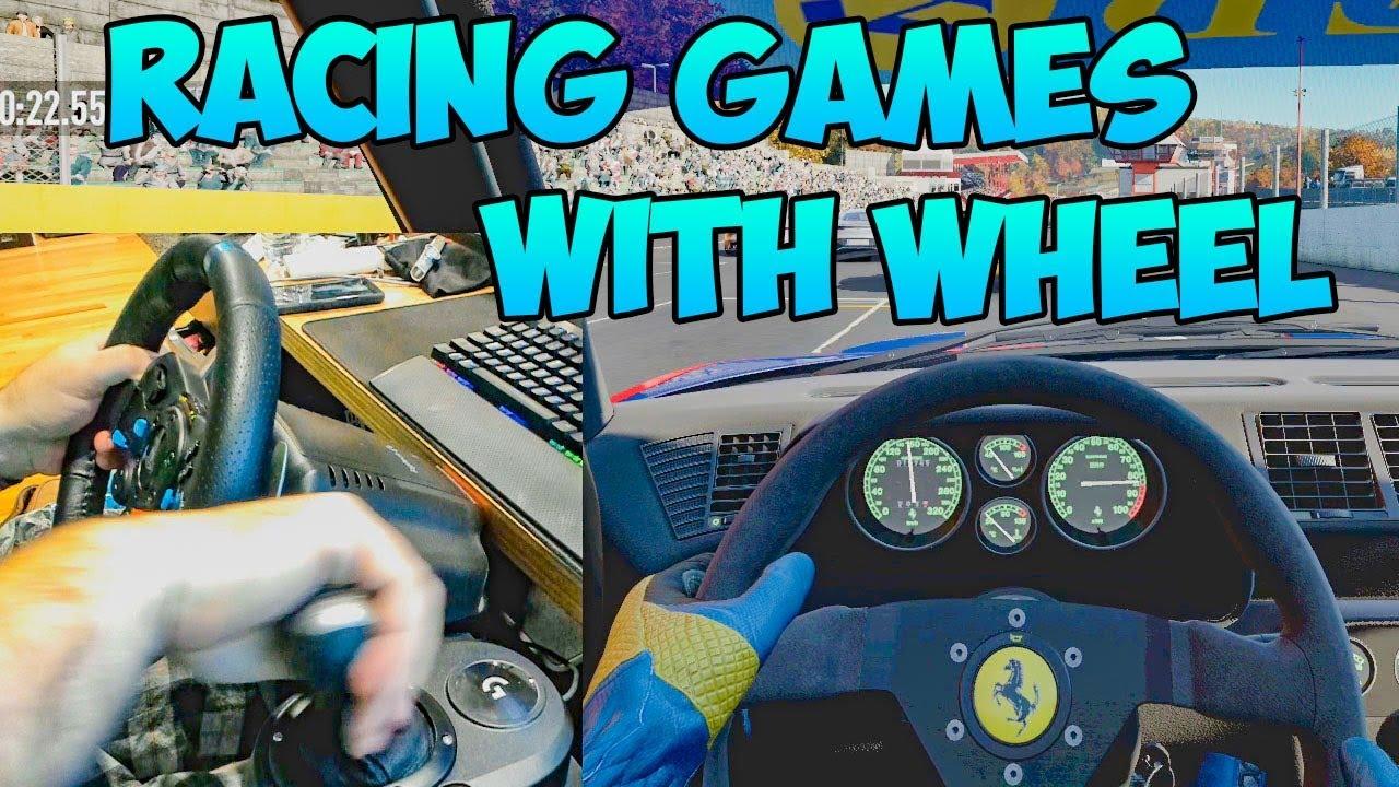 Jeux de course avec volant (Project Cars 2 et G29) + vidéo