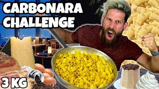 3KG di CARBONARA Challenge - Cheat day - MAN VS FOOD