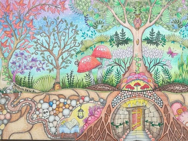 7300 Enchanted Forest Coloring Book Finished Free