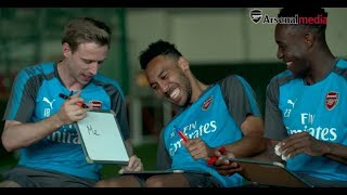 Not to be missed! Aubameyang, Monreal and Welbeck | Arsenal teammates