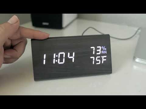 Modern Digital Led - Wooden Alarm Clock - Review & Setup