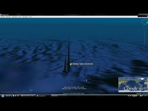 Deep sea obelisk - Alignments to Giza, Stonehenge and Xi'an. Googe Earth