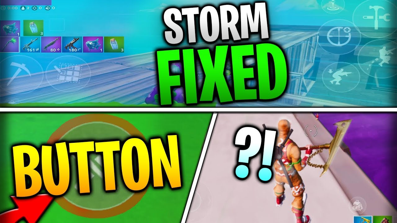 Fortnite Mobile News | Storm Fixed, New Buttons, Brightness Improvements, AND MORE!