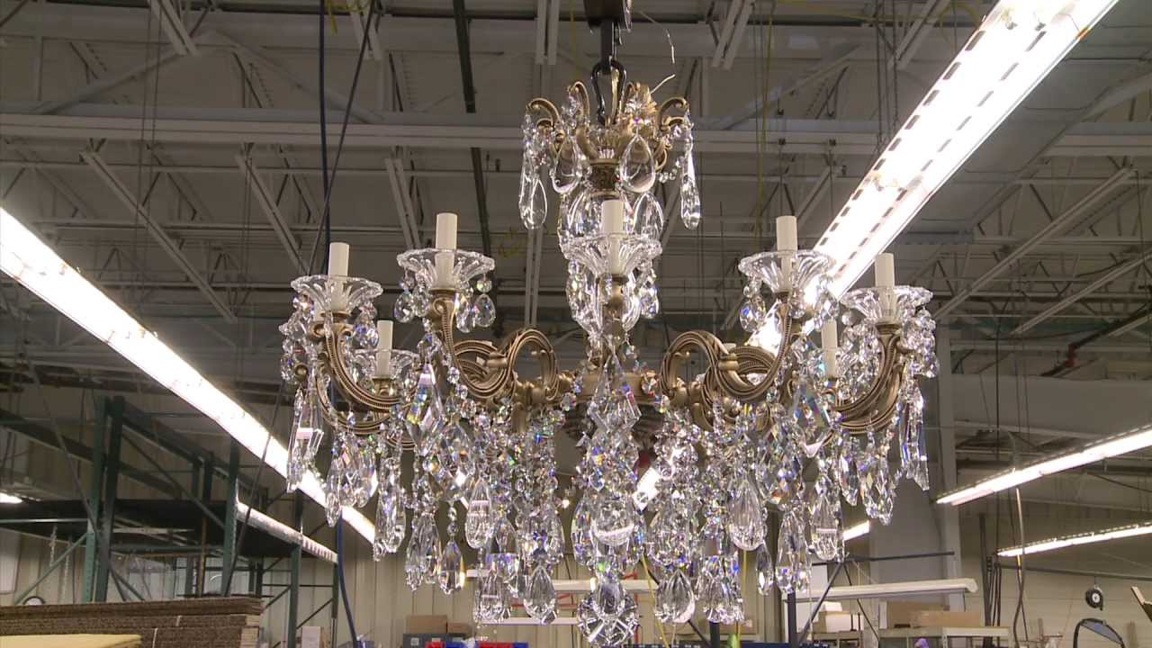 Made In Clinton County Swarovski Schonbek Crystal Chandeliers