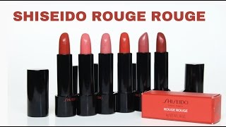 [SWATCH + REVIEW] SHISEIDO ROUGE ROUGE LIPSTICK thumbnail