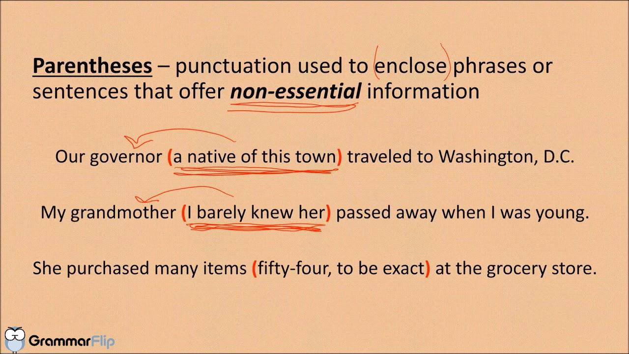 parentheses vs brackets