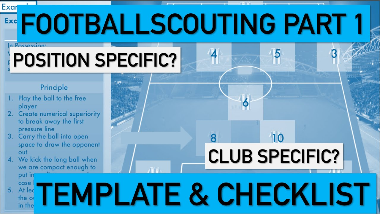 Football Scouting Part One: Template and Checklist With Football Scouting Report Template