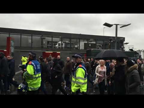 Tottenham fans at Emirates stadium 2. Arsenal vs Tottenham. 18/11/2017