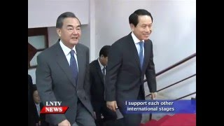 Lao NEWS on LNTV: Laos & China will support each other.25/4/2016