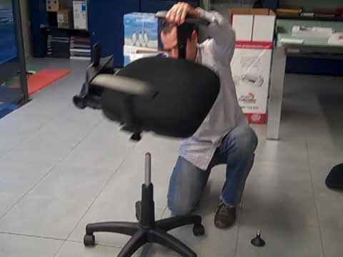 Mobiliario para oficinas como se monta una silla youtube - Como tapizar una descalzadora ...