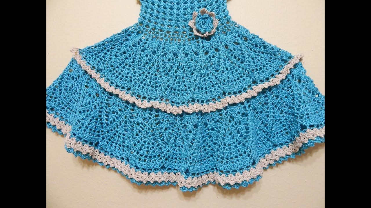 vestido crochet olanes para ni a parte 2 de 3 youtube. Black Bedroom Furniture Sets. Home Design Ideas