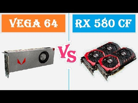 AMD VEGA 64 VS RX 580 CROSSFIRE (FPS BENCHMARK)