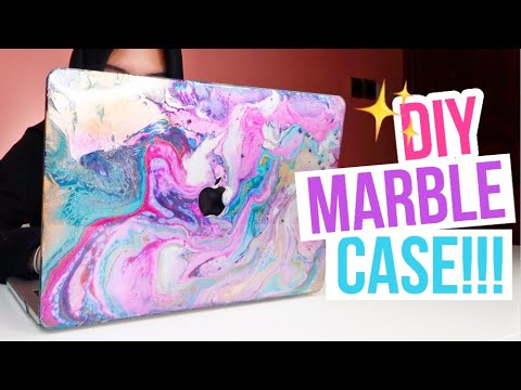 DIY MARBLE CASE!! TUMBLR LAPTOP CASES!! - YouTube