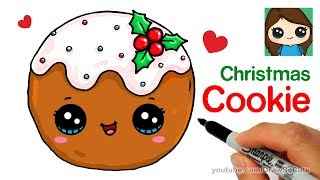 How to Draw a Cookie for Christmas Easy and Cute