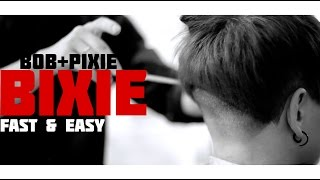 Artyom Chё - bixie its bob + pixie ▲ fast and easy ▲ short haircuts 2016 shave nape