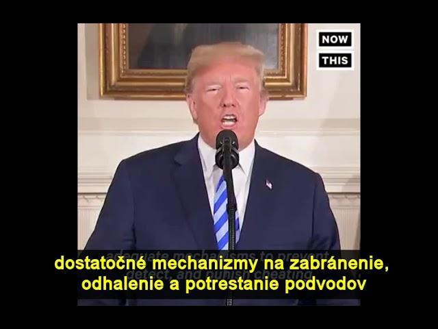 Trump klamal pri odstúpení dohody s Iránom (SK HC tit)