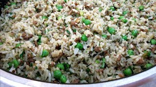 Dirty Rice - Cajun Style Pork Fried Rice - PoorMansGourmet