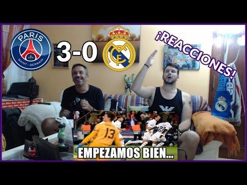 PSG VS REAL MADRID 3-0 REACCIONES | CHAMPIONS LEAGUE