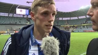 Sören Rieks om sina två mål mot Falkenberg.