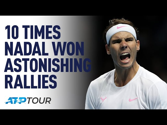 10 Times Rafael Nadal Won Astonishing Rallies | TOP 10 | ATP