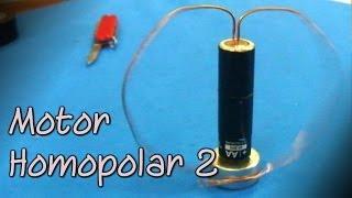 El motor más simple del mundo  (Motor homopolar 2)