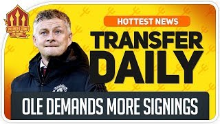 Solskjaer's Transfer Plea! Bruno Medical Today! Man Utd Transfer News