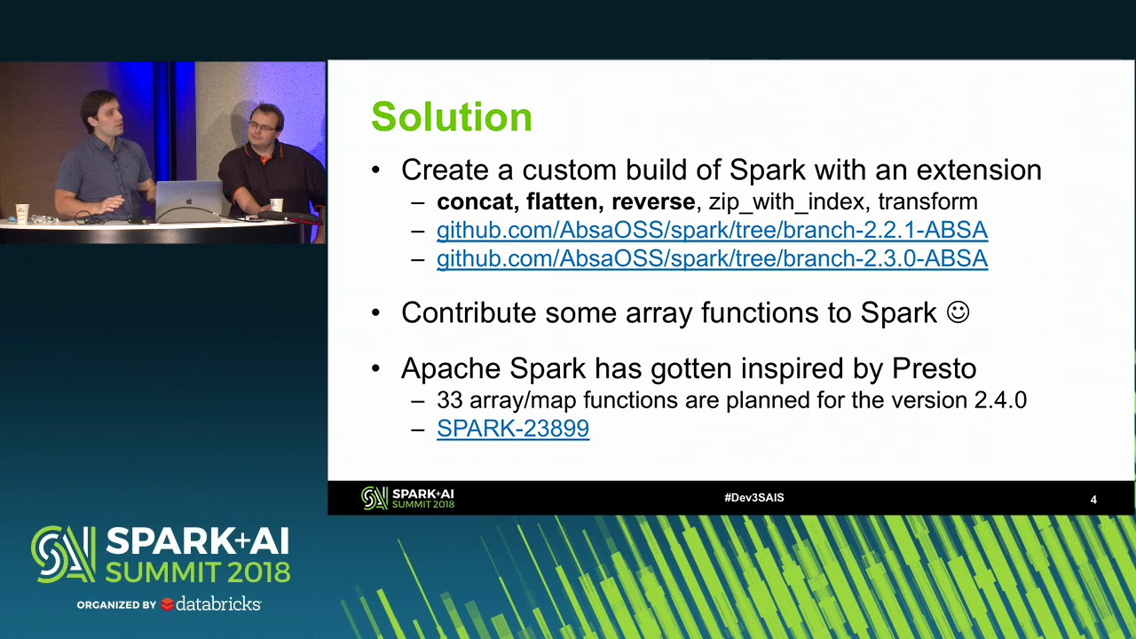 Extending Spark SQL API with Easier to Use Array Types Operations - Marek  Novotny and Alex Vayda