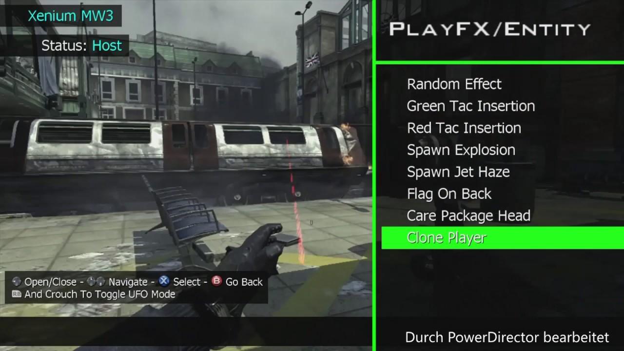 how to get a mod menu for mw3 xbox 360