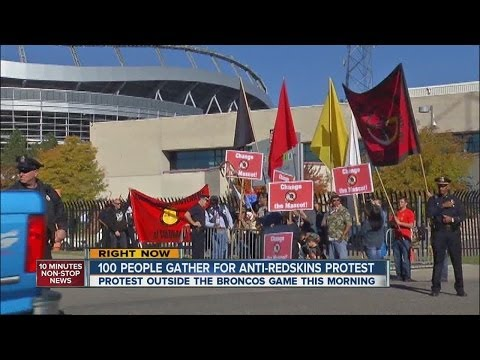 Washington Redskins name protested in Denver