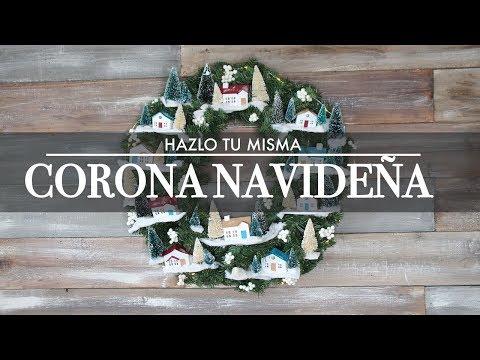 Diy Snowflake Wreath Corona Navidena Dollar Tree Youtube