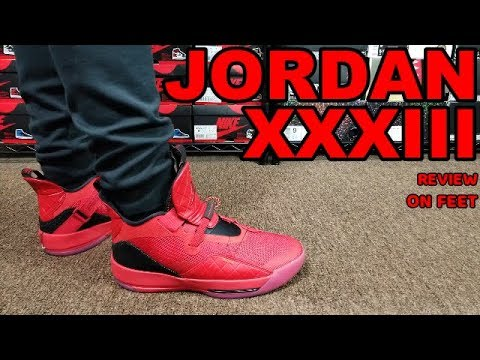 AIR JORDAN 33 XXXIII UNIVERSITY RED