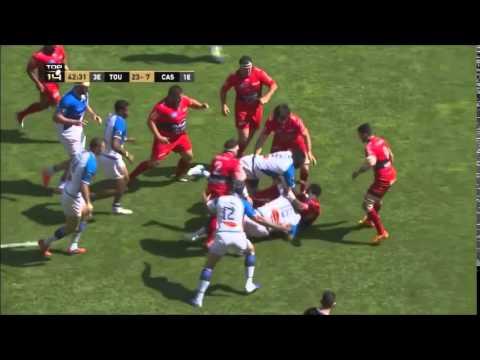 Les 5 essais de Toulon face à Castres