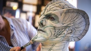We visit award-winning makeup effects house KNB EFX, the shop where...