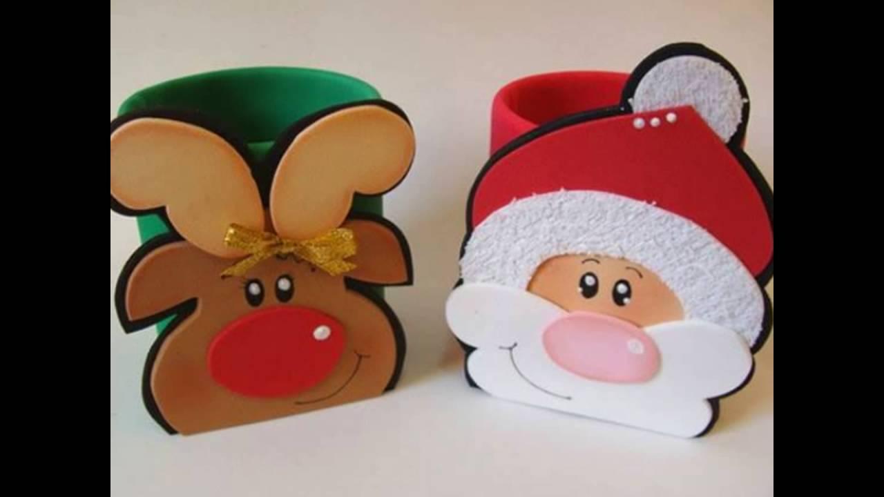 Manualidades navidad en fomi ideas youtube - Manualidades de ganchillo para navidad ...