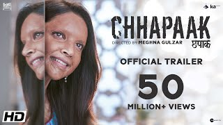 Deepika Padukone's Chhapaak Hindi Movie Trailer 2020