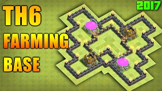 Clash Of Clans - BEST Town Hall 6 FARMING BASE Of 2017 ♦ TH6 ANTI GIANT Trophy Base