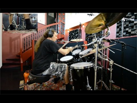 Recording drums for the new BENIGHTED album (2017 February)