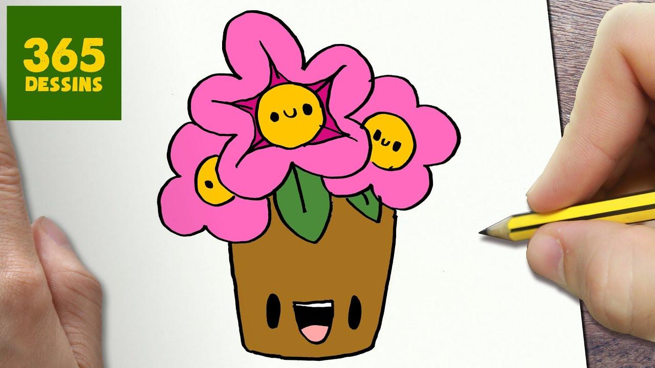 comment dessiner fleurs kawaii tape par tape dessins kawaii facile youtube. Black Bedroom Furniture Sets. Home Design Ideas