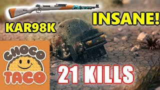 PUBG - TSM ChocoTaco - 21 KILLS - INSANE KAR98K SHOTS! #SOLO